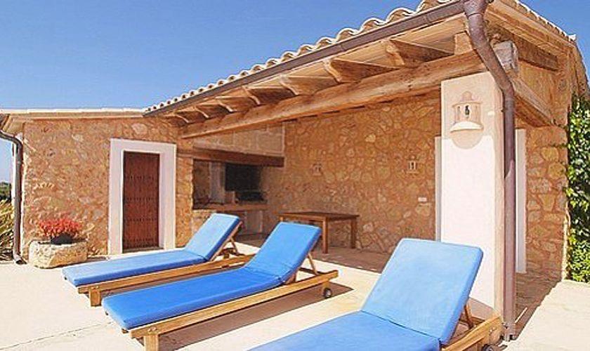 Terrasse Ferienvilla Mallorca Südosten 10 Personen PM 6555