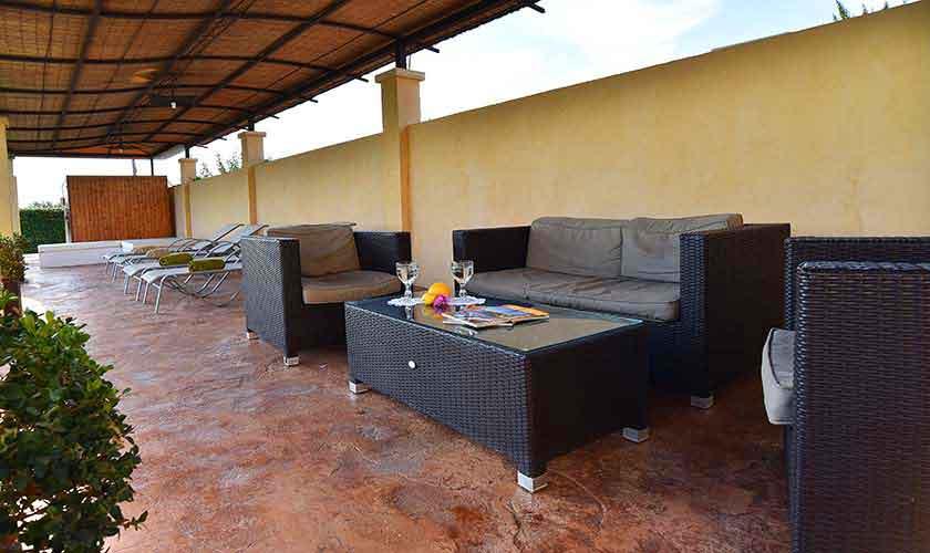 Lounge Terrasse Ferienvilla Mallorca Südosten PM 6561