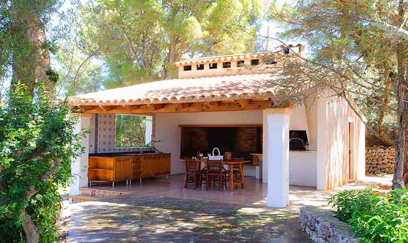 Außenküche Ferienfinca Mallorca Südostküste PM 6567