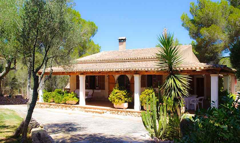 Blick auf die Finca Mallorca 6 Personen PM 6567