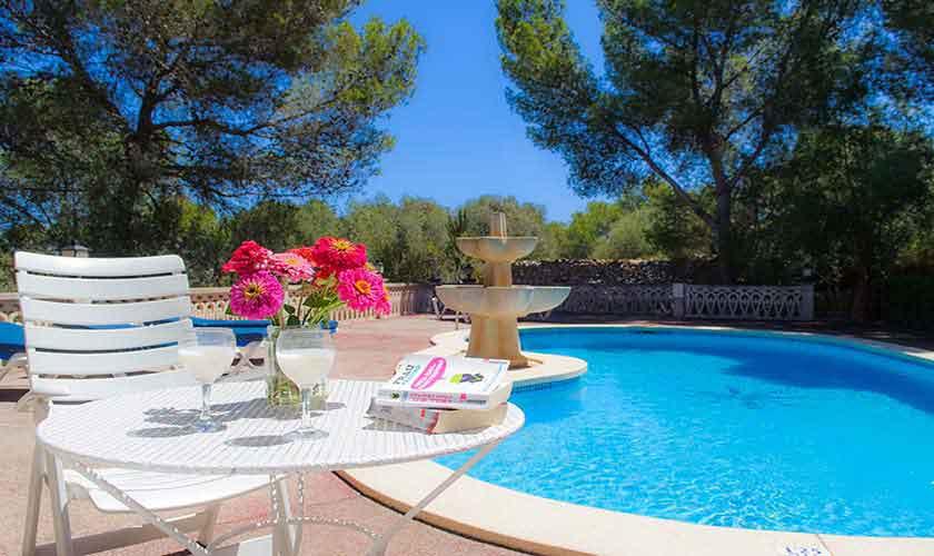 Poolblick Ferienhaus Mallorca Südostküste PM 6567