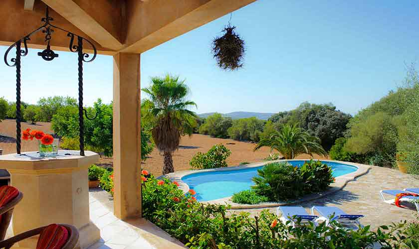 Terrasse Finca Mallorca Südosten PM 6568