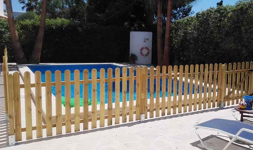 Poolumzäunung Ferienhaus Mallorca 10 Personen PM 6570