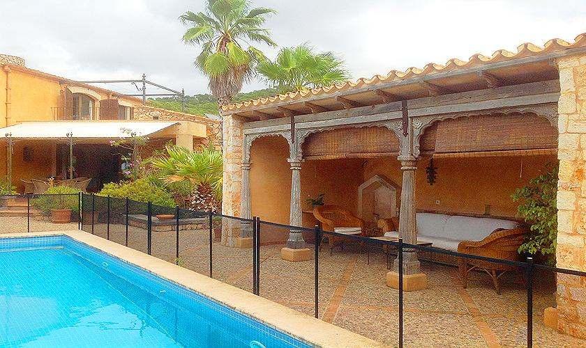 Pool umzäunt Finca Mallorca 8 Personen PM 6591