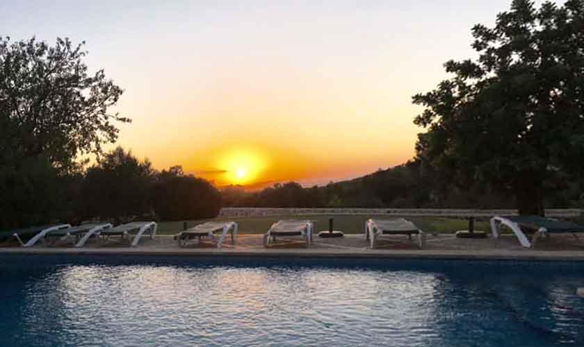 Sonnenuntergang Finca Mallorca 8 Personen PM 6591