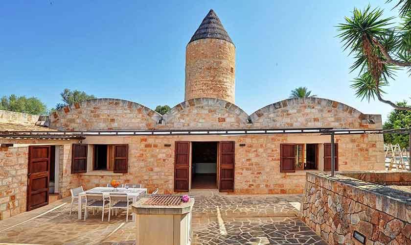 Blick auf das Ferienhaus Mallorca Süden PM 6574