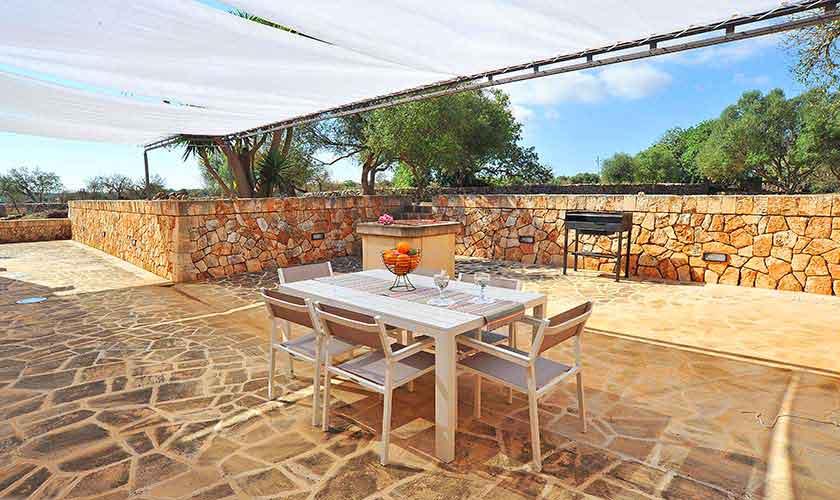 Terrasse Finca Mallorca Süden PM 6594