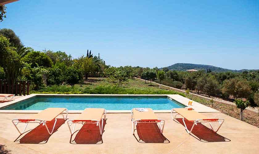 Pool und Blick Finca Mallorca Südosten PM 6595