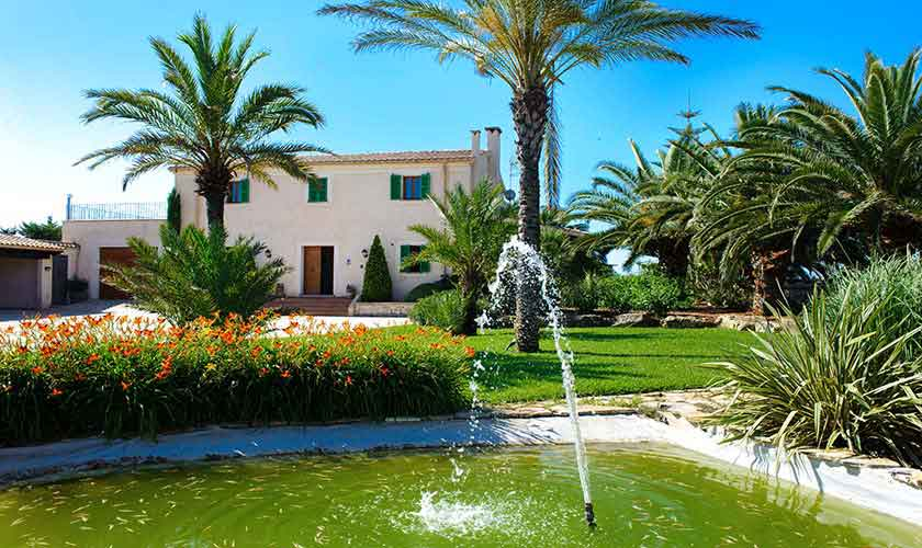 Pool und Teich Finca Mallorca Ostküste PM 6596