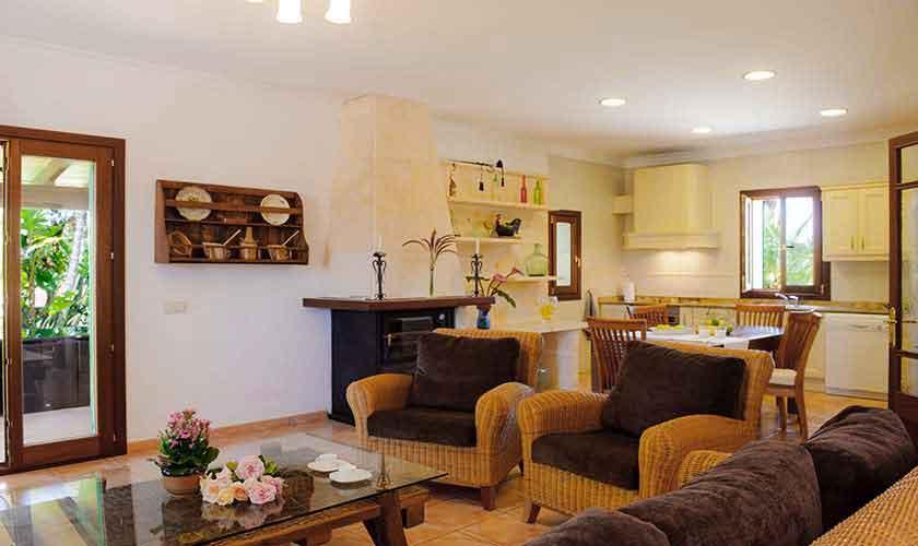 Wohnbereich Finca Mallorca Ostküste PM 6596