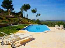 Pool und Blick Finca Mallorca bei Felanitx PM 678