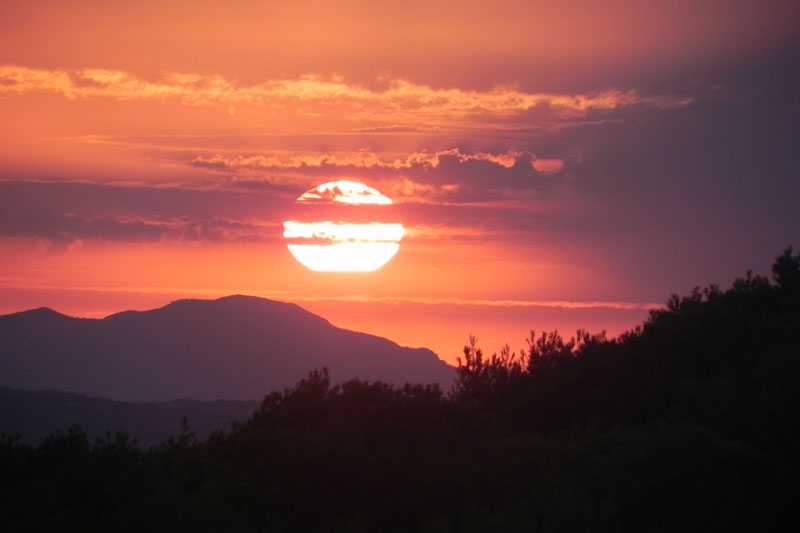 Sonnenuntergang Ferienfinca Mallorca für 8-10 Personen bei Felanitx PM 678