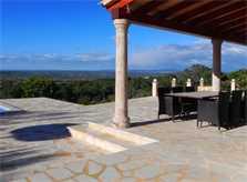 Terrasse und Blick Finca Mallorca bei Felanitx PM 678