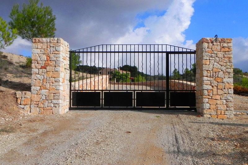 Einfahrt Ferienfinca Mallorca für 8-10 Personen bei Felanitx PM 678
