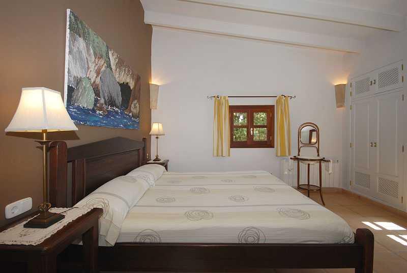 Schlafzimmer Ferienhaus Mallorca Osten PM 6820