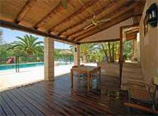 Überdachte Terrasse Ferienfinca Mallorca PM 6820