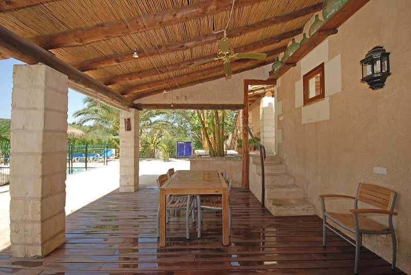Terrasse Ferienfinca Mallorca PM 6820