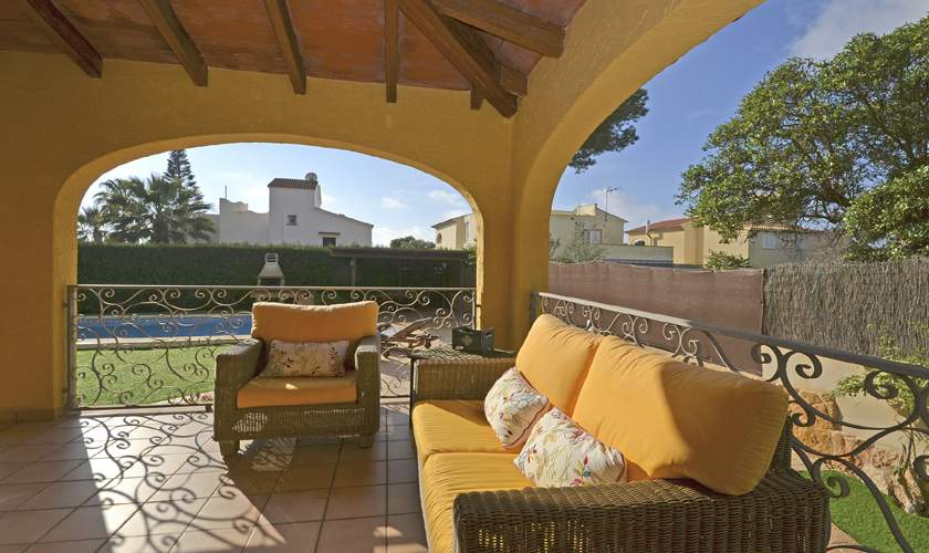 Überdachte Terrasse Ferienhaus Mallorca Cala Pi PM 6940