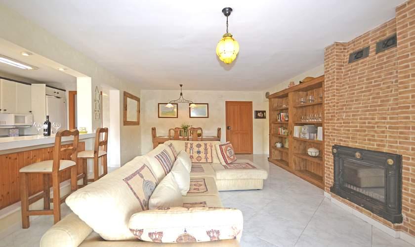 Wohnraum Ferienhaus Mallorca Cala Pi PM 6940