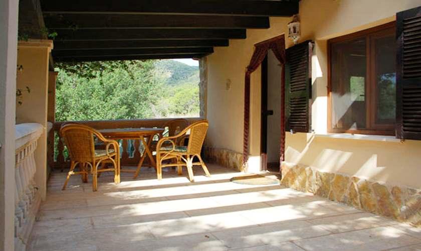 Terrasse Finca Mallorca Süden PM 6950