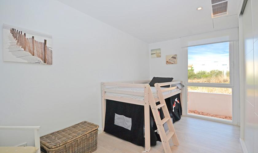 Etagenbett Ferienhaus Mallorca bei Sa Rapita PM 6960