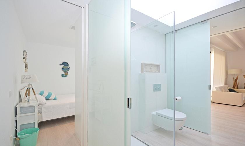 Badezimmer Ferienhaus Mallorca bei Sa Rapita PM 6960