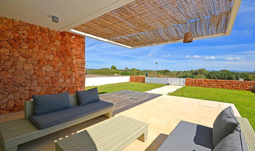 Terrasse Ferienhaus Mallorca Strandnähe PM 6960