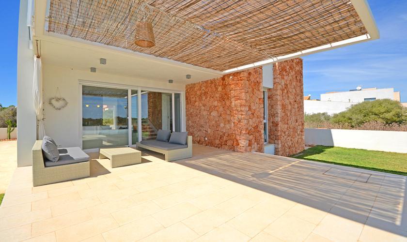 Terrasse Ferienhaus Mallorca Sa Rapita PM 6960