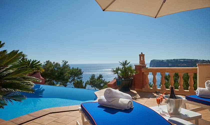 Pool und Meerblick Ferienhaus Mallorca Westküste PM 103 Nr. 70C