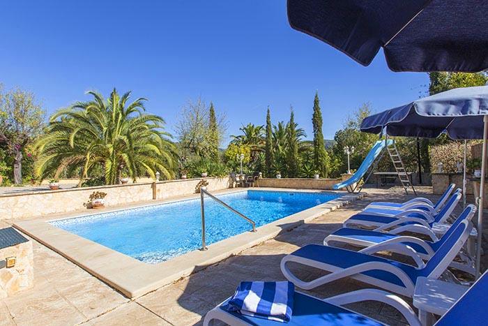 Poolblick Exklusive Finca Mallorca Südwesten für 6 Personen PM 120