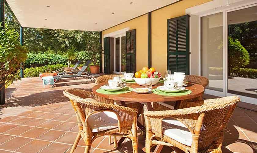 Terrasse Ferienvilla Mallorca 6 Personen PM 140