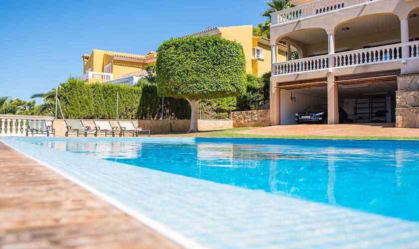 Blick auf die Ferienvilla Mallorca Südwesten PM 150