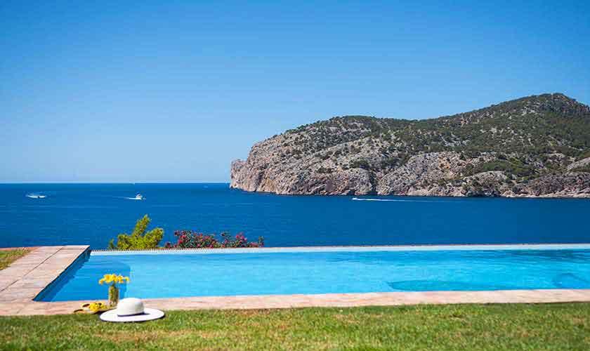Meerblick und Pool Ferienhaus Mallorca PM 150