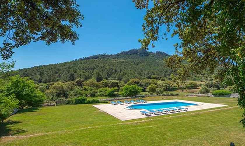 Pool und Blick Finca Mallorca Westen PM 280