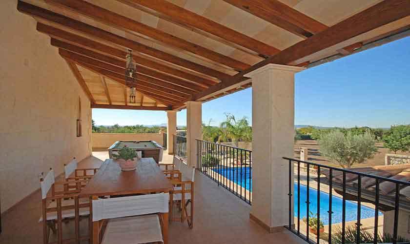 Terrasse oben Ferienvilla Mallorca PM 3024