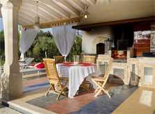 Grillplatz der Luxusfinca Mallorca Pollensa PM 3315
