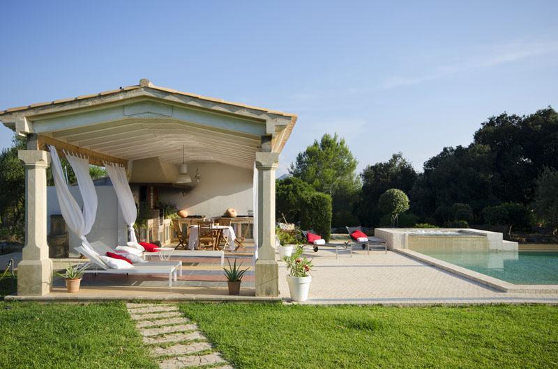 Poolhaus der Luxusvilla Mallorca Pollensa PM 3315