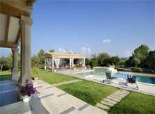 Pool und Rasen Ferienvilla Mallorca Pollensa PM 3315