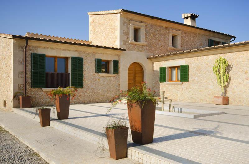 Blick auf die Ferienvilla Mallorca Pollensa PM 3315