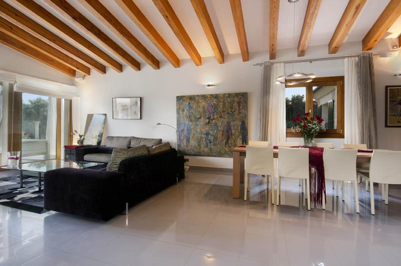 Wohnraum Luxusfinca Mallorca Pollensa PM 3315