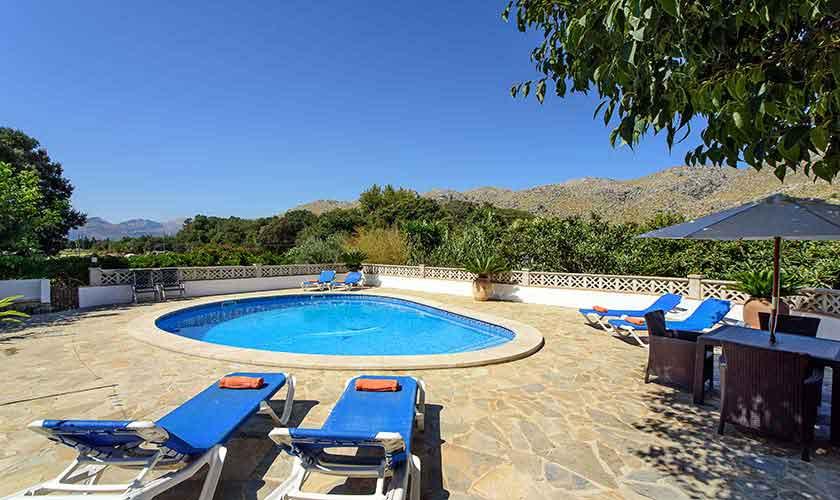 Poolblick Ferienhaus Mallorca 6 Personen PM 3401