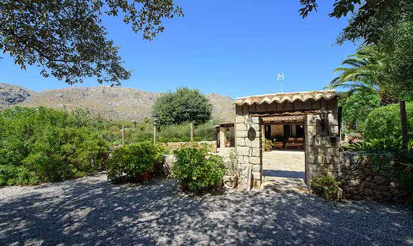 Blick auf das Ferienhaus Mallorca 6 Personen PM 3401