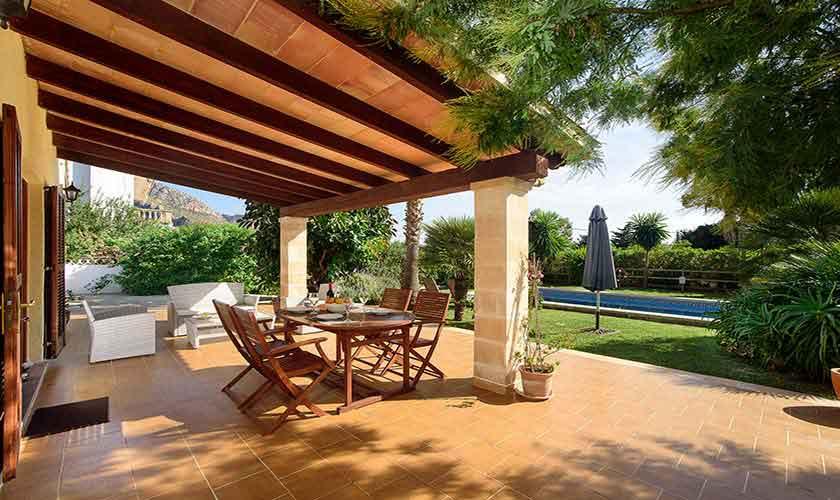 Terrasse Ferienfinca Mallorca Nordküste PM 3402