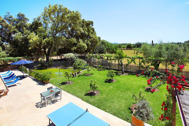 Blick auf die Terrasse Finca  Mallorca Norden PM 3406