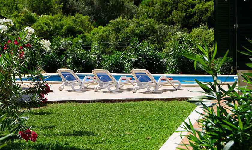 Pool und Rasen Finca Mallorca 6 Personen PM 3424