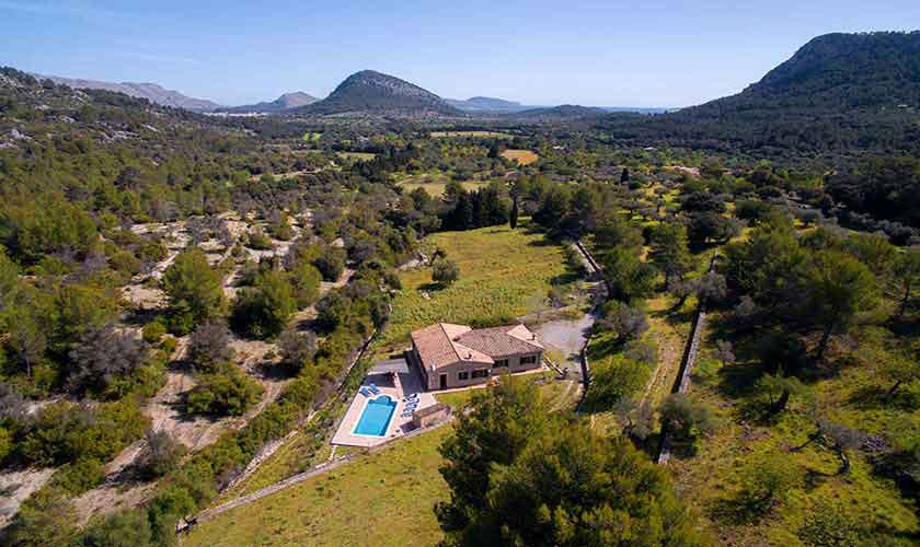 Luftbild Ferienhaus  Mallorca 6 Personen PM 3424