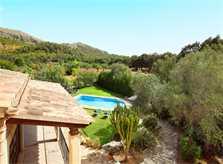 Blick von dem Ferienhaus Mallorca PM 3426 für 6-7 Personen mit Pool