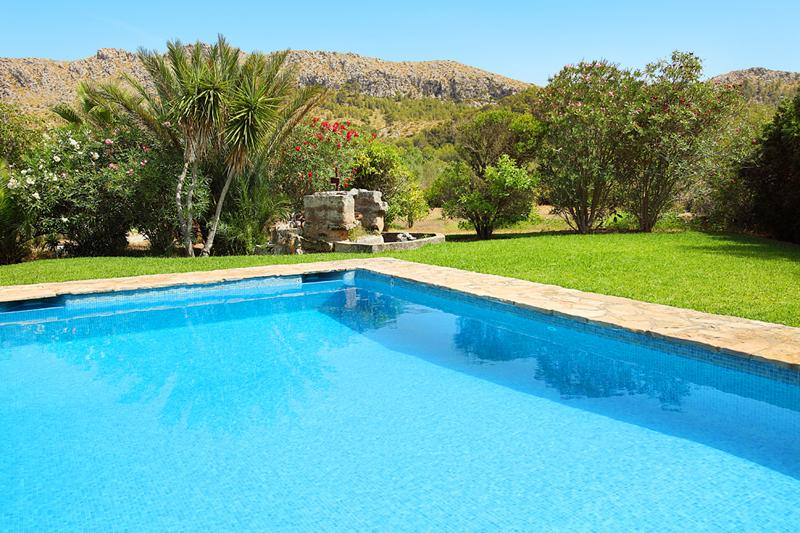 Poolblick Finca Mallorca PM 3426 für 6-7 Personen mit Pool