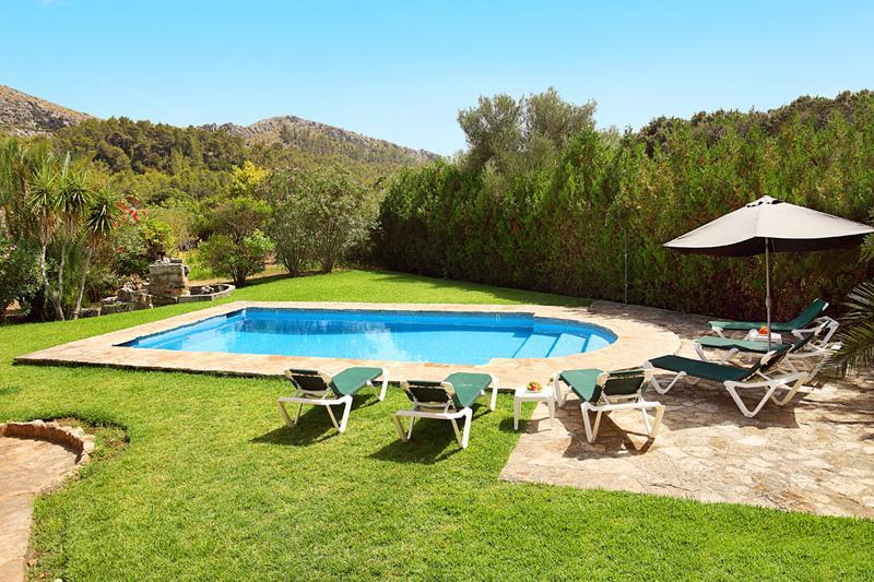 Poolblick Ferienfinca Mallorca PM 3426 für 6-7 Personen mit Pool