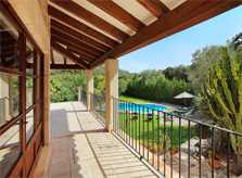 Terrasse Ferienhaus Mallorca Nordküste PM 3426 für 6-7 Personen mit Pool